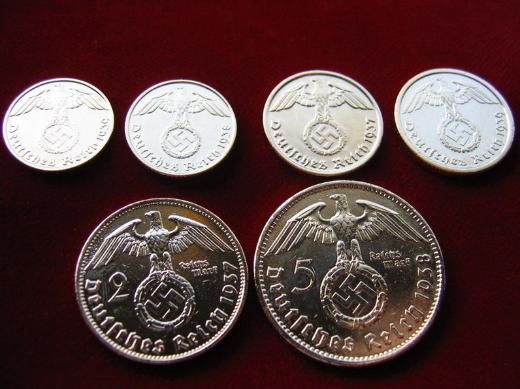 Gold Plated German Third Reich Coins