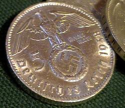 Nazi Silver coin with swastika