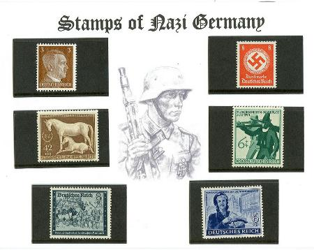 German Third Reich Hitler Stamps