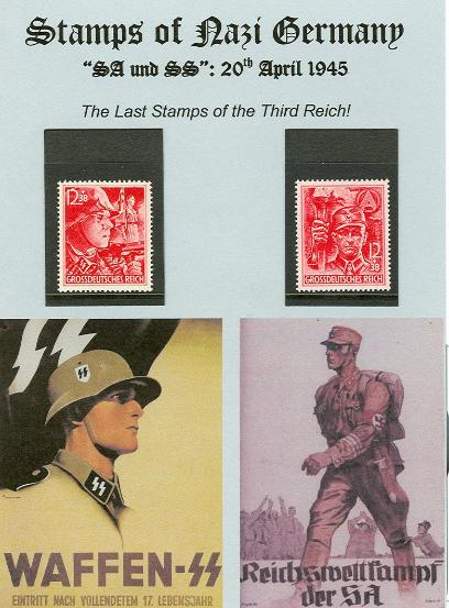 German Third Reich SA and SS stamps