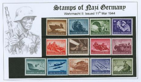 German Third Reich Stamps wehrmacht