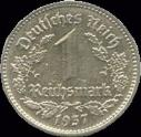 Third Reich 1 Reichmark Nickel